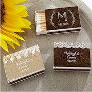 Personalized White Matchboxes (Set of 50) - Rustic Charm Wedding