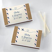 Personalized Wedding Matchboxes (Set of 50) - Travel and Adventure