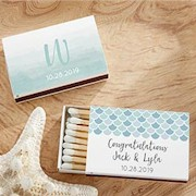 Personalized White Matchboxes (Set of 50) - Seaside Escape