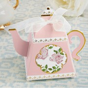 Pink Tea Time Teapot Favor Box (Set of 24)