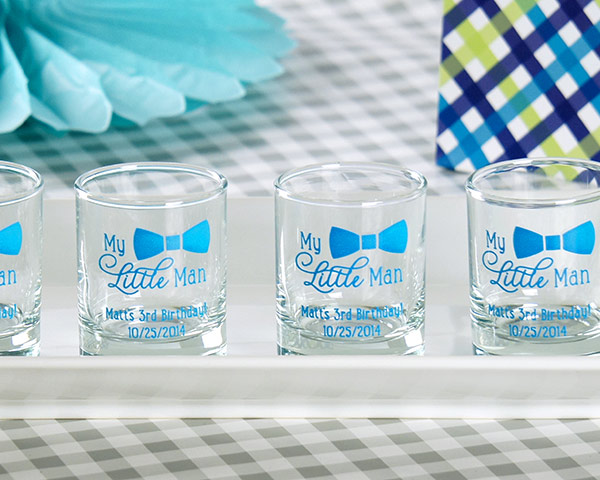 Baby Shower Favors Glasses ~ My little man baby shower shot glass favors