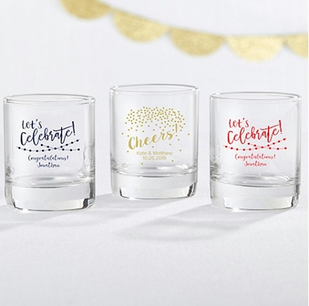 Personalized Shot Glasses Birthday Party Shot Glass Party Time