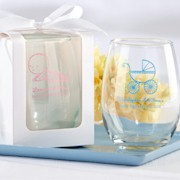 Personalized Stemless Wine Glass (9 oz) Baby Shower