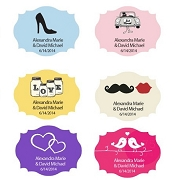 Personalized Quatrefoil Stickers