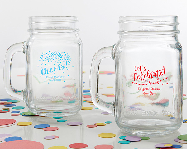 Mason Jar Party Favors Lets Celebrate Cheers