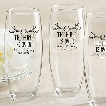 Personalized Champagne Glass The Hunt Is Over
