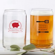 custom beer glass party favors beer can glasses pint glasses