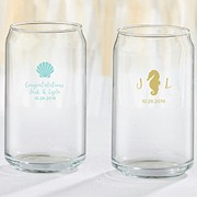 Personalized 16 oz. Can Glass - Seaside Escape