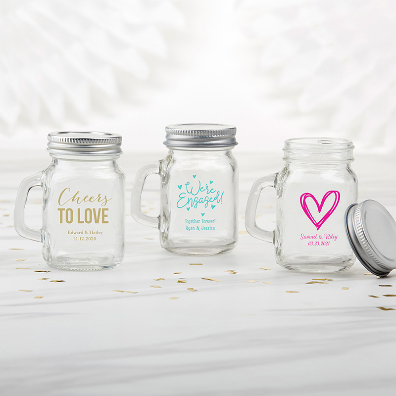 Mini Mason Jar Party Favors Wedding Bridal Shower Baby Shower