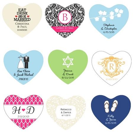 Personalized heart sticker