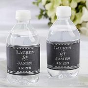 Chalk Design Personalized Water Bottle Labels