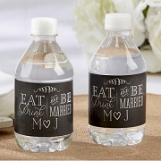 Eat, Drink & Be Married Water Bottle Labels