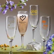 Personalized Wedding Champagne Flute (5.75 oz)