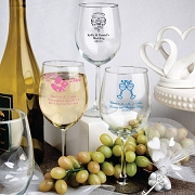 Personalized Wine Goblet Wedding Favors (12 Oz)