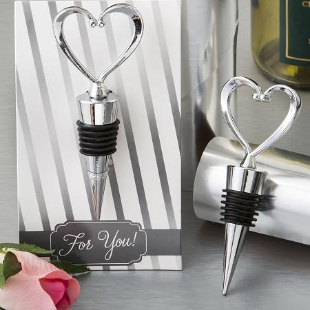 Heart Design Wine Bottle Stopper Wedding Favors