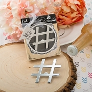 Hashtag Love' Chrome Finish Silver Metal Bottle Opener