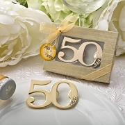 50th Design Golden Bottle Opener - Anniversary - Birthday