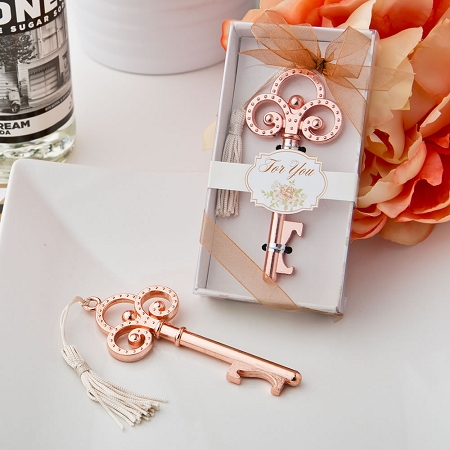 home u003e collections u003e rustic u0026 vintage u003e rose gold vintage skeleton key bottle opener - Key Bottle Opener