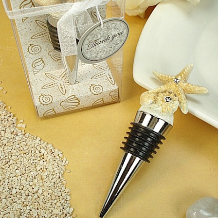 Starfish Wine Bottle Stopper Beach Wedding Favors