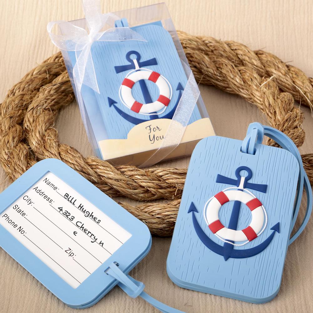 Nautical Luggage Tag Destination Wedding Favors