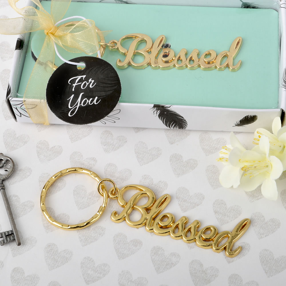 Blessed Key Chain Religious Favor |Christening |Baptism ...