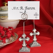Elegant Cross Design Placecard