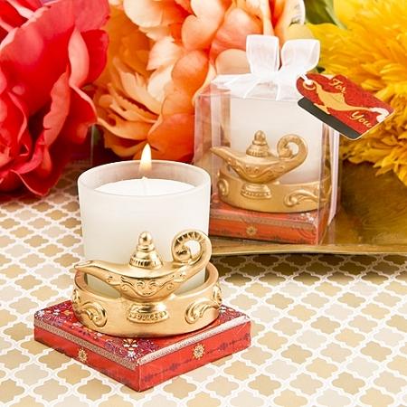 Gold Aladdin Magic Lantern Candle
