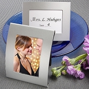 Matte Silver Metal Place Card and Photo Frames