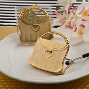 Elegant Reflections Gold Purse Compact Mirror