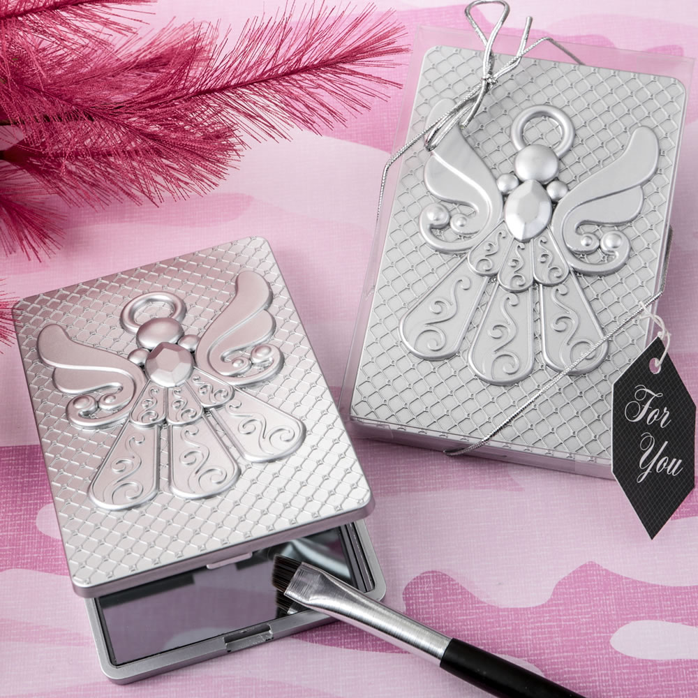Angel Compact Mirror Religious Favors |Christening |Baptism ...
