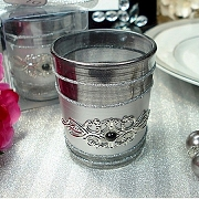 Black Deco Votive Candle