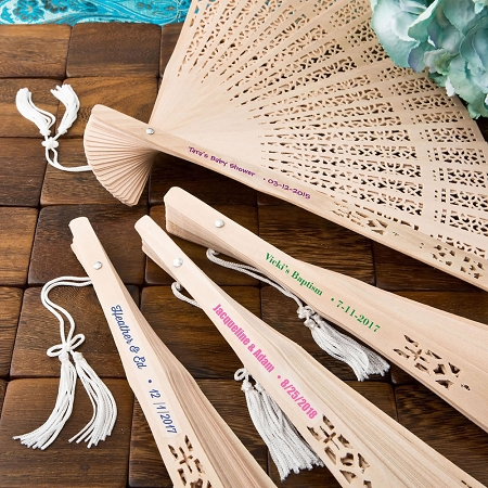Sandalwood Fan Wedding Favors Beach And Outdoor Party Favors