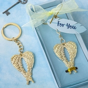 Gold Guardian Angel Wings Metal Key Chain