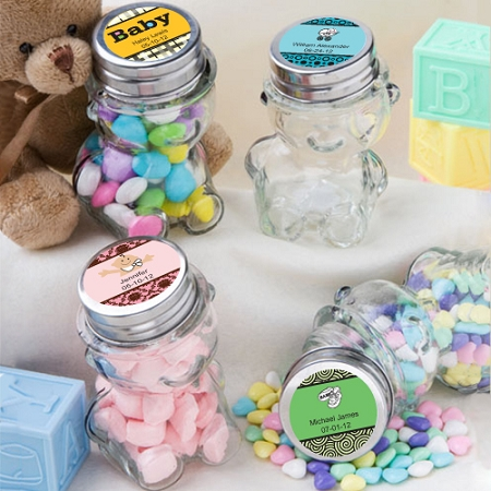 personalized teddy bear jar baby shower favors, Baby shower invitation