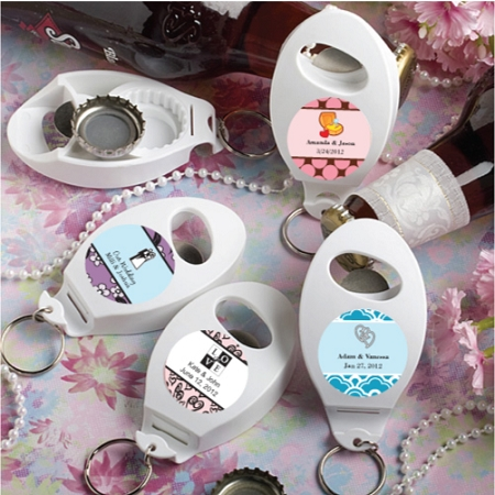 Personalized Bottle Opener and Key Chain Party Favors Wedding