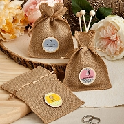 Personalized Burlap Treat Bags