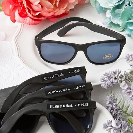 Black Personalized Sunglasses