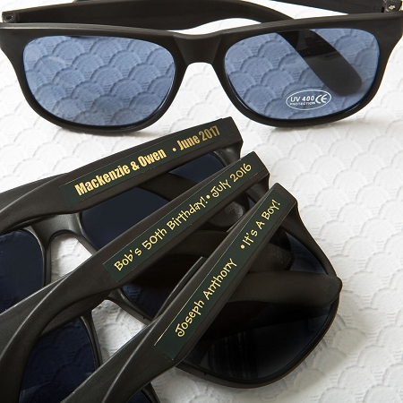 Black Sunglasses With Metallic Stickers
