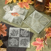 Fall Themed Coaster Favors Set of 2
