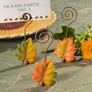 Autumn Leaf Design Place Card Holders
