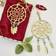 Gold Metal Dream Catcher Hanging Ornament