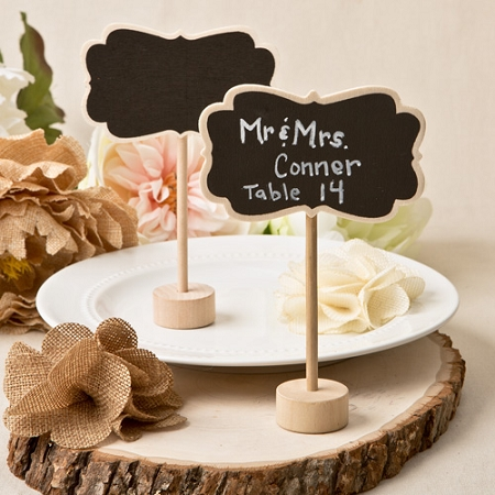 rustic mini chalk board placecard holder