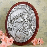 Madonna And Child Plaque - Religious Favors