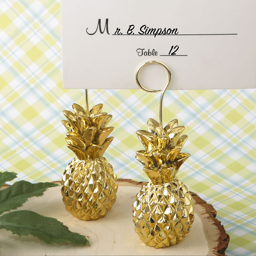 Beach And Tropical Party Pineapple Design Place Card Holders