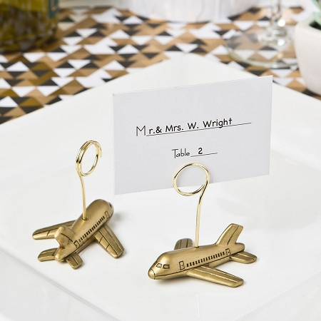Airplane Design Wedding Placecard Or Photo Holders