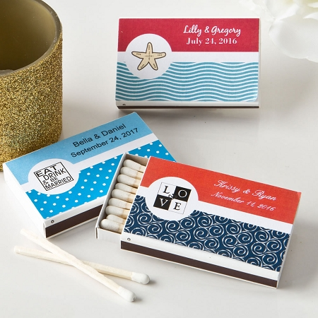 Personalized Wedding Match Box Favors