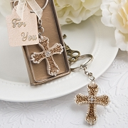Vintage Design Cross Key Chain