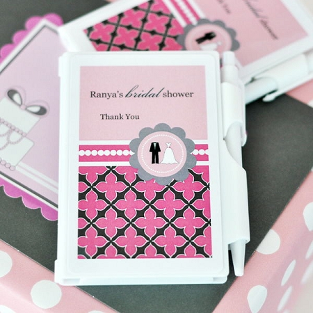 Personalized Notebook Favors Wedding Shower
