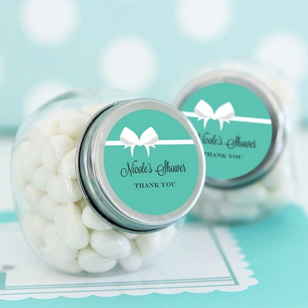 Home glassware mason jars bridal shower candy jar favors bride co personalized stickers