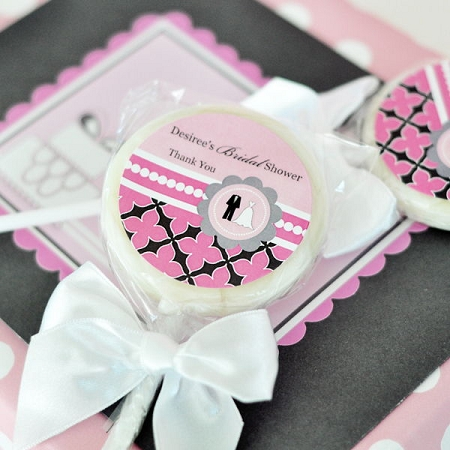 Personalised Wedding Gift Cheap : Personalized Bridal Shower Lollipop Favors